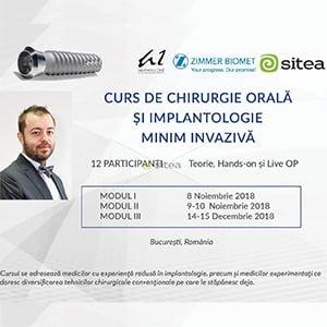 CURS DE CHIRURGIE ORALĂ ȘI IMPLANTOLOGIE MINIM INVAZIVĂ cu Dr. Alecsandru Ionescu